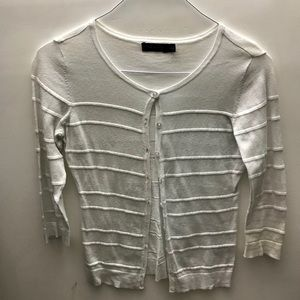 Limited XS White 3/4 Button Down Sweater